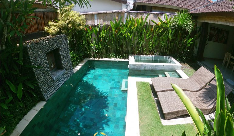 top view of the pool
