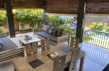 balcony area of the villa
