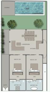 layout villa 1